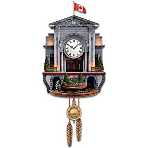 """""""Spirit Of Canada"""" Wall Clock With Lights Sound And Motion"""