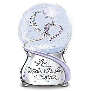 Love Between Mother And Daughter Musical Glitter Globe