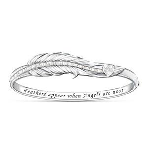 """When Angels Are Near"" Remembrance Diamond Bracelet"