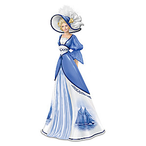 """""""Endless Beauty"""" Lady Figurine with Canadian Bluenose Gown"""