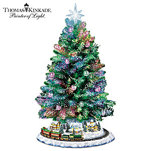 Thomas Kinkade Pre-Lit Christmas Tree With Music And Motion