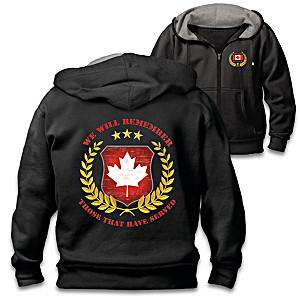 Canadian Veterans Men's Embroidered Hoodie