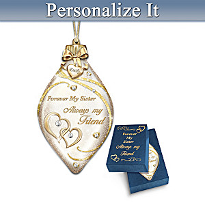 Forever My Sister Personalized Ornament
