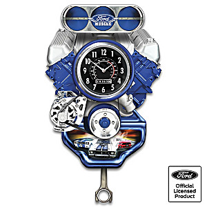 Ford Muscle Car Wall Clock With Lights, Motion And Sound