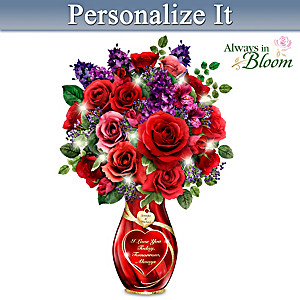 """""""Endless Romance"""" Personalized Lighted Crystal Centrepiece"""