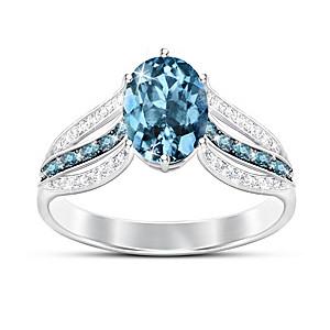 """""""Twilight Lustre"""" London Blue Topaz Women's Ring"""