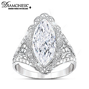 """""""Duchess"""" Diamonesk Ring Inspired By Royal Lace Fashions"""