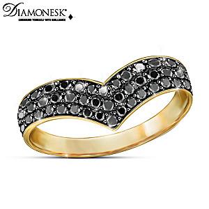 """Fashion Reigns"" Diamonesk Simulated Black Diamond Ring"
