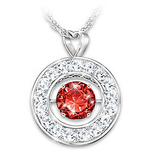 """""""Sparkling You"""" Personalized Crystal Birthstone Necklace"""