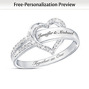 """""""Together As One"""" Personalized Diamond Ring"""