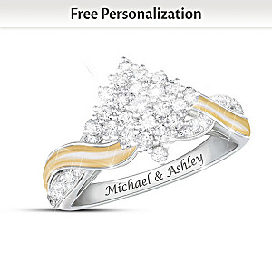Love, Always And Forever Personalized Ring With 50 Diamonds
