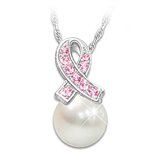 """""""Beauty Of Hope"""" Breast Cancer Awareness Pendant Necklace"""