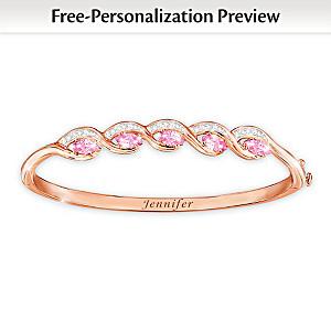 """Beauty Of You"" Personalized Birthstone Copper Bracelet"