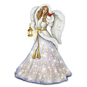 """Silent Night"" Illuminated Musical Angel Sculpture"