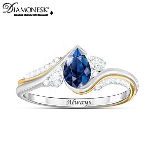 """""""With You Always"""" Women's Diamonesk Remembrance Ring"""
