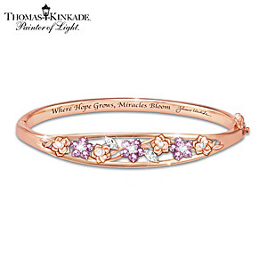 """Thomas Kinkade """"Garden Of Hope"""" Women's Copper Bracelet"""