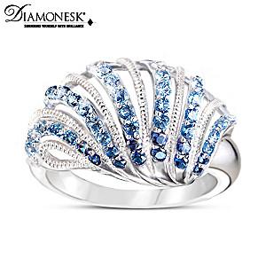 """Coastal Treasure"" Sterling Silver Diamonesk Ring"