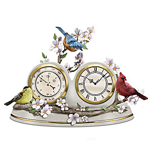 """""""Nature's Timeless Moments"""" Clock And Weather Barometer"""