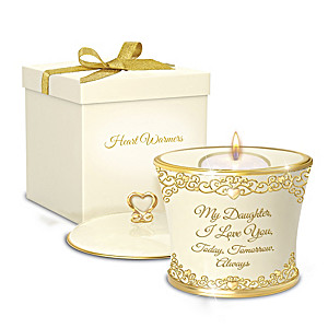 """""""My Daughter, I Love You Forever"""" Candleholder Gift Box Set"""