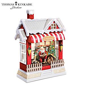 Thomas Kinkade Christmas Water Globe With Lights And Music
