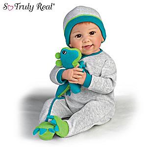 "Linda Murray ""Ryan And Rex"" Baby Doll With Plush Dinosaur"