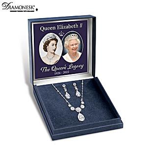 """Coronation Celebration"" Diamonesk Necklace And Earrings Set"