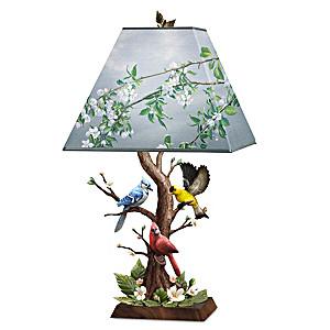 "James Hautman ""Joyous Gathering"" Sculpted Songbird Lamp"