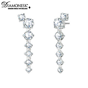 Cascading Earrings With Over 11 Carats Of Simulated Diamonds