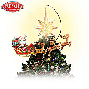 Rotating Illuminated Rudolph Tree Topper