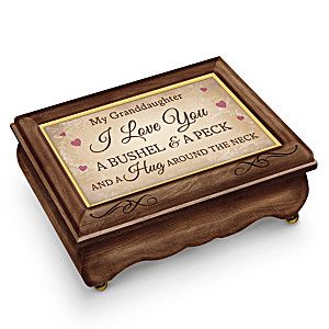 """Granddaughter Wooden Music Box Plays """"A Bushel And A Peck"""""""