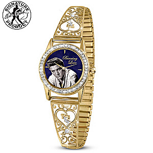"""Elvis """"Burning Love"""" Women's Watch With Crystals"""
