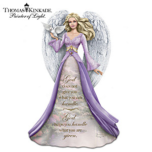 Thomas Kinkade Angel Figurine with Inspirational Inscription