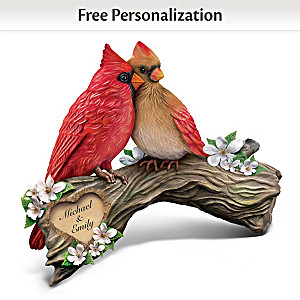 """""""Perfect Pair"""" Songbird Sculpture With Your Two Names"""