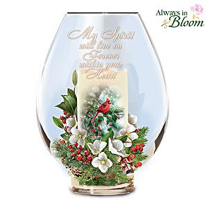 Memorial Candleholder With Bradley Jackson Cardinal Art