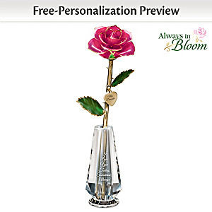 """""""My Precious Daughter"""" Personalized Real Rose Centrepiece"""