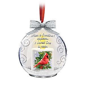 Dona Gelsinger Memorial Glass Ornament With Flameless Candle