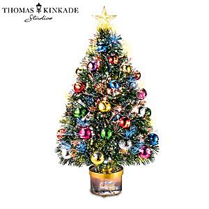 Thomas Kinkade Rotating Tree With Colour-Changing Lights