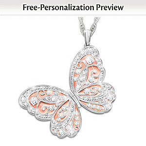 Personalized Crystal Locket Necklace For Granddaughters
