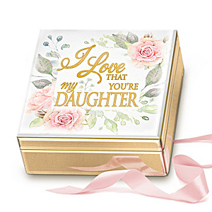 """""""I Love That You're My Daughter"""" Mirrored Music Box"""