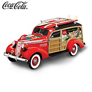 "COCA-COLA ""Cruising To Refreshment"" Woody Wagon Sculpture"