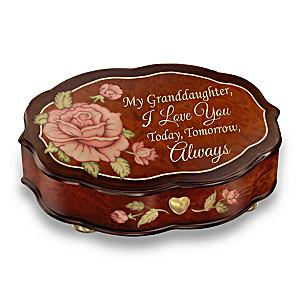 """Love You Always"" Swiss-Inspired Wood-look Music Box"