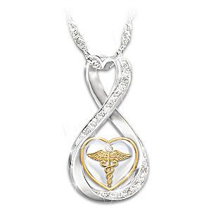 """Work Of Heart"" Swarovski Crystal Healthcare Necklace"