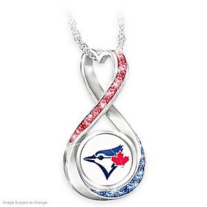 """Toronto Blue Jays Forever"" Infinity Pendant Necklace"