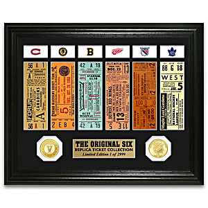 The Original Six™ Vintage Ticket-Inspired Wall Decor