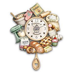 """""""Homemade Happiness"""" Wall Clock Celebrates The Joy Of Baking"""