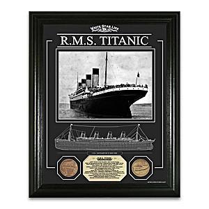 The RMS Titanic Framed Commemorative Print Wall Decor