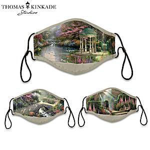 3 Thomas Kinkade Antibacterial Adult Face Masks