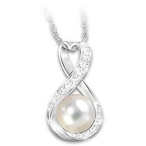 """Pearl of Wisdom"" Swarovski Crystal 2021 Graduate Necklace"