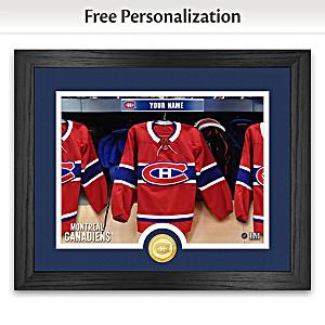 "Canadiens® ""Locker Room"" Personalized Photo Mint"
