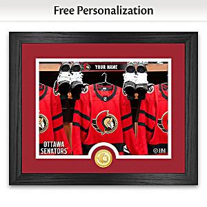 """Senators® """"Locker Room"""" Personalized Photo Mint"""